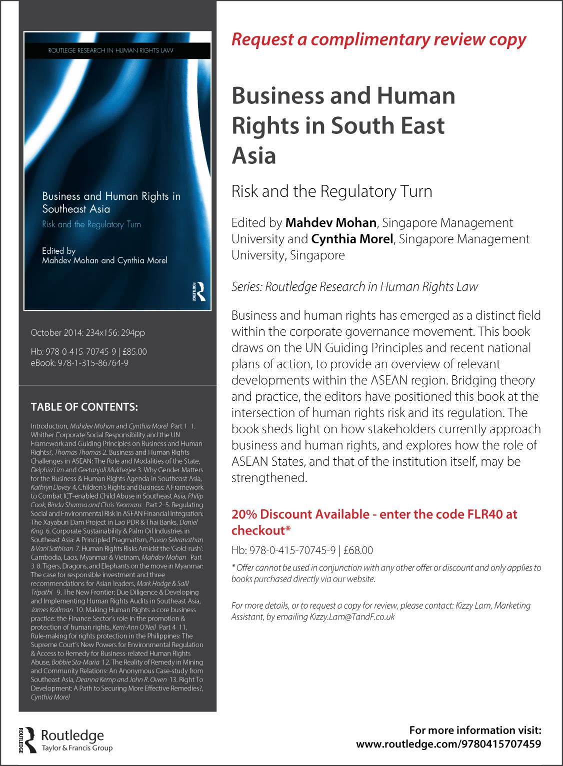 Business and Human Rights in South East Asia