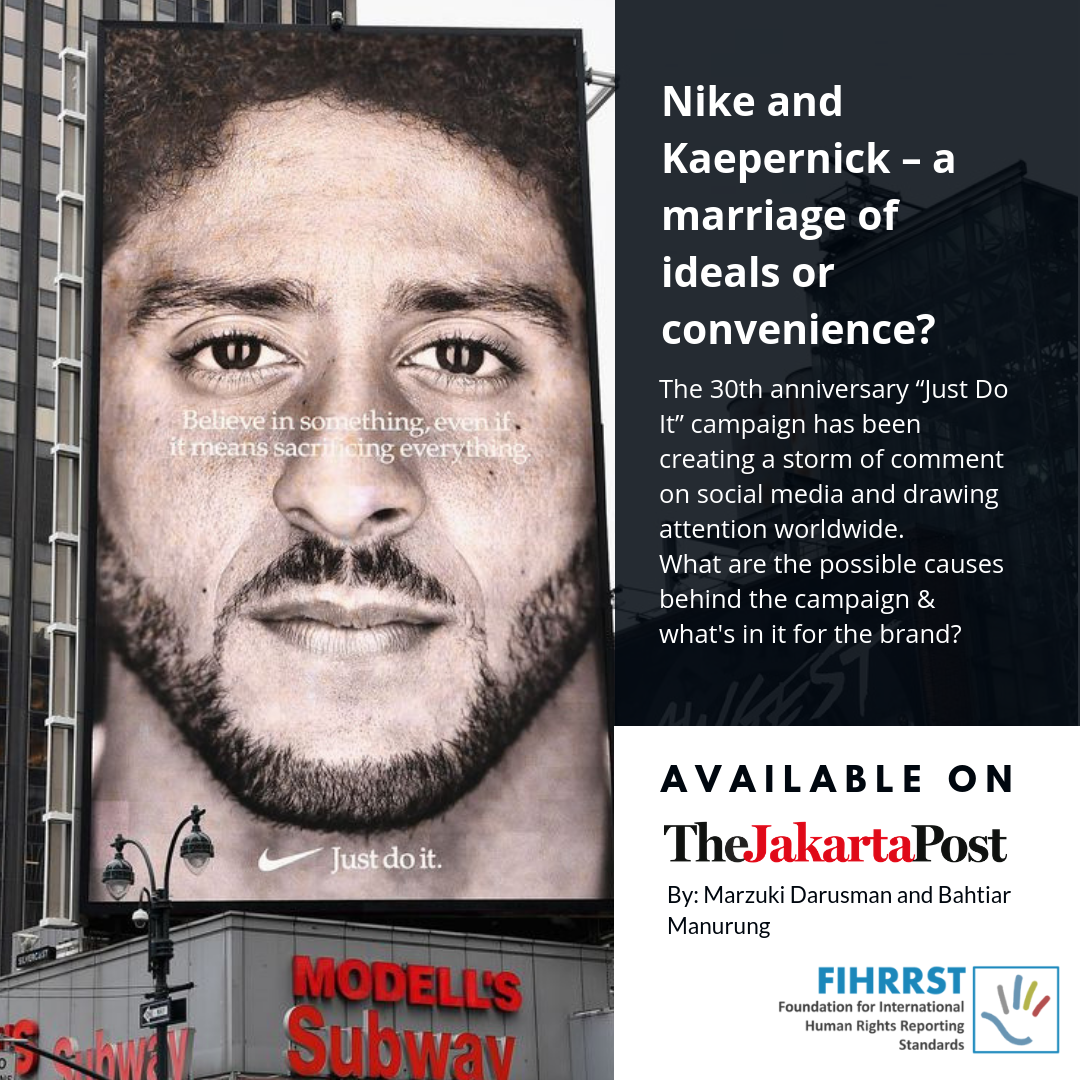 Nike and Kaepernick – a marriage of ideals or convenience