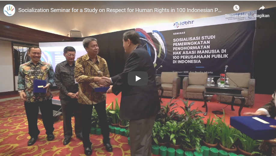 Socialization Seminar for a Study on Respect for Human Rights in 100 Indonesian Public Companies